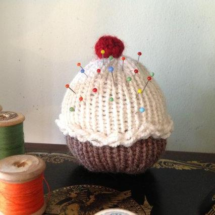 Lovely Crochet Cupcake pincushion handmade with love miniature muffin pincushion